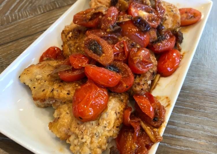 Simple Way to Make Perfect Cherry Tomato Chicken