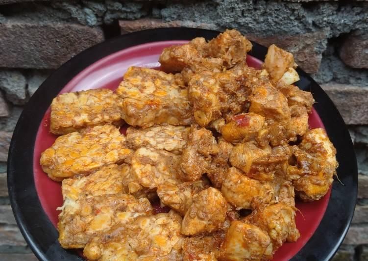 Rendang Ayam Tempe Tanpa Minyak dan Santan