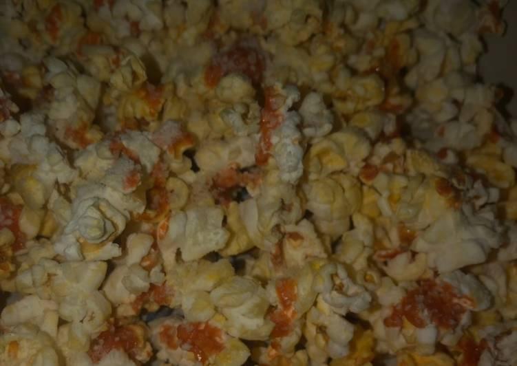 Steps to Prepare Quick Spicy popcorn