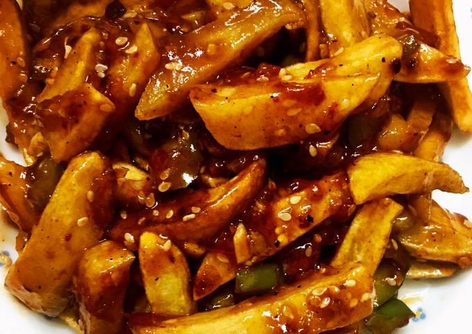 Honey chili fries