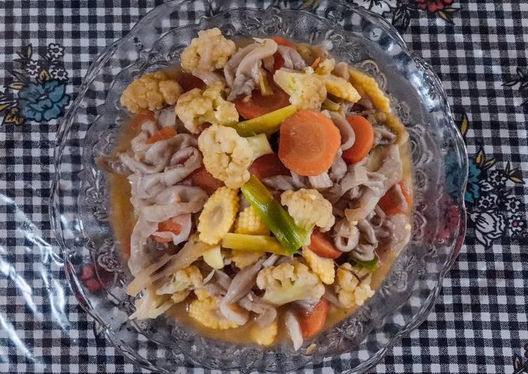 Capcay Sayur Jamur Tiram