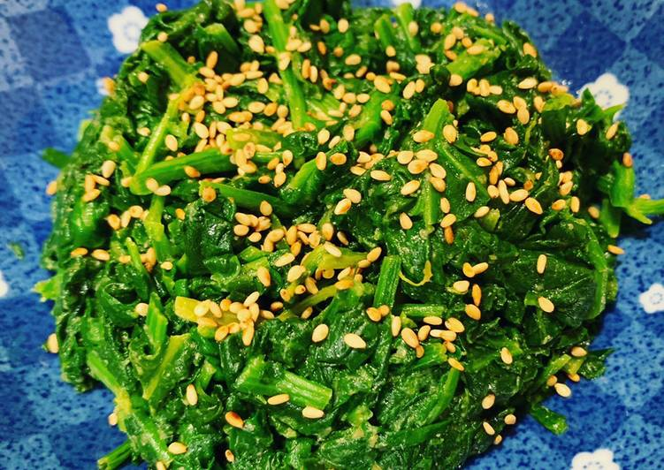 Recipe: Tasty Miso Sesame Spinach