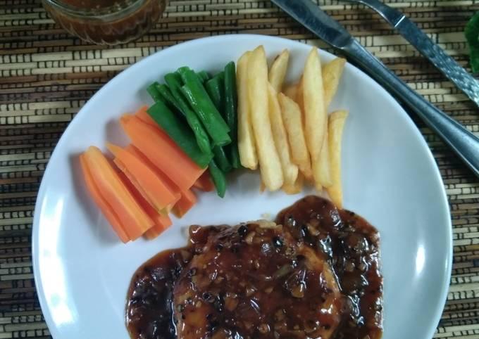Steak Tempe ayam