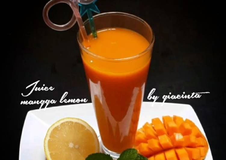 Juice mangga lemon