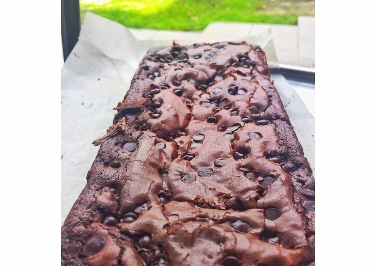 Brownies Fudgy dan shiny crust