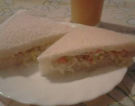 Sándwiches de palitos de mar