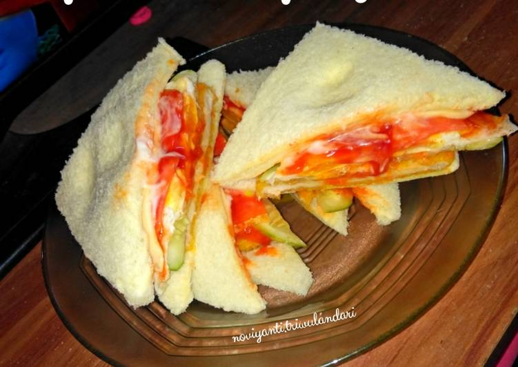 Simple sandwich burger ala #DapoerVirgie