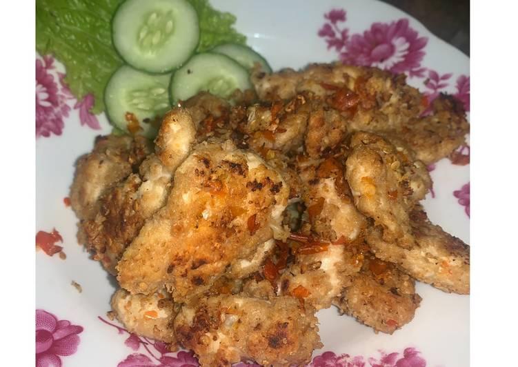Ayam penyet Oatmeal