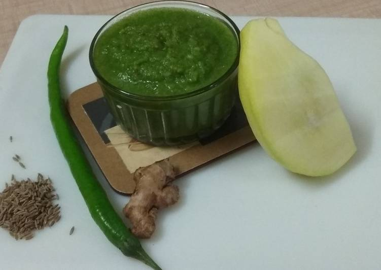 Simple Way to Prepare Homemade Mango - Coriandor Spicy Chutney