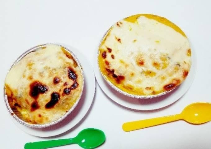 Pumpkin cheese gratin