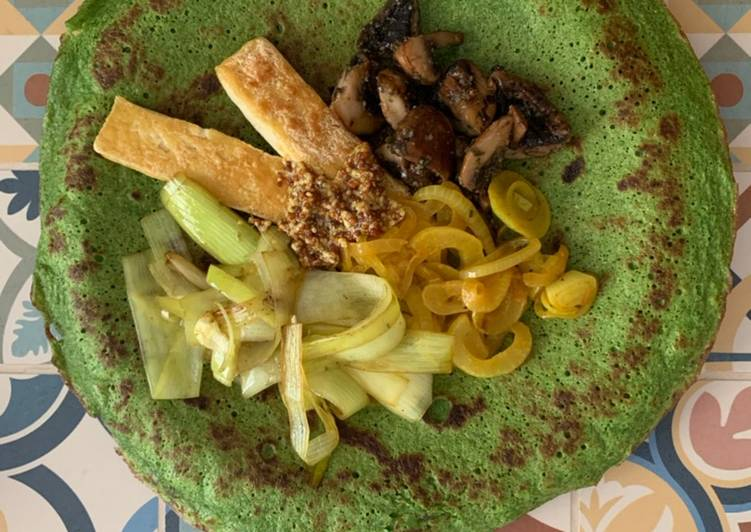 Crepes de espinacas y trigo sarraceno