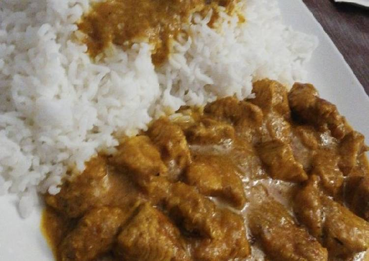 ¡Pollo al curry con leche de coco y arroz basmati! 🍛