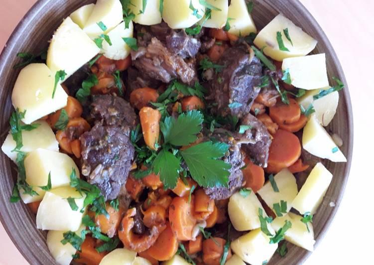 Daube de paleron de bœuf aux carottes