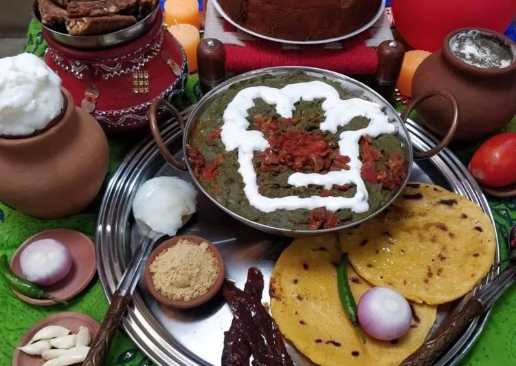 Punjabi Saag -Makki Ki Roti - Laurie G Edwards