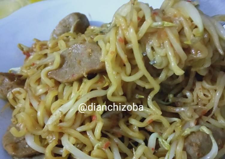 Resep Indomie goreng nyemek pedas Paling Enak