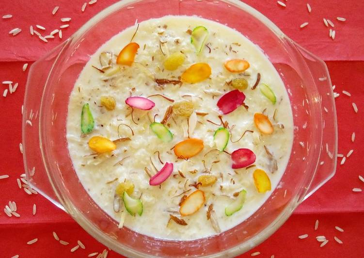 Recipe of Homemade Sweet Rice Pudding#MyRiceDishContest