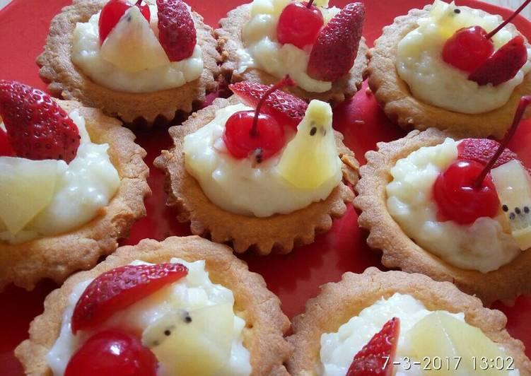 Resep Fruit Pie Cake (Kue Pai Toping buah2 an) Paling Mudah
