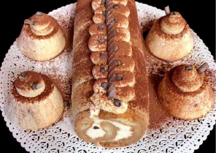 Tronchetto di Savoiardi con Crema al Mascarpone e Latte Condensato