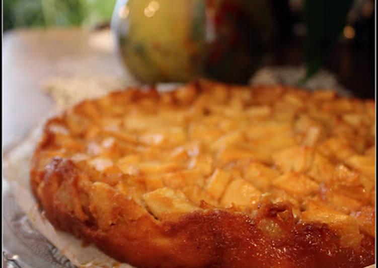 Far Breton aux pommes et caramel au beurre salé