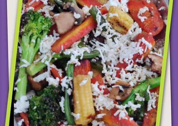 25 Minute Steps to Prepare Refreshing Mix veg Grilled sabji
