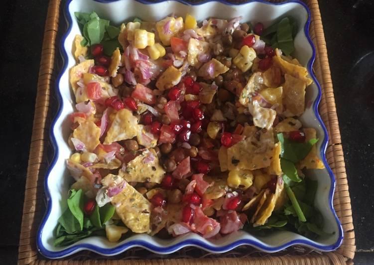 Simple Way to Make Any-night-of-the-week #Snacks #Nachos chana chaat