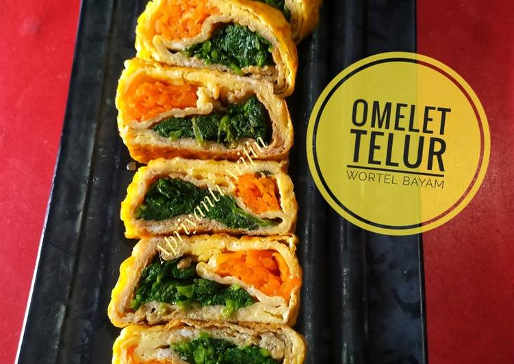Omelet Telur(Isi wortel bayam)#BikinRamadanBerkesan #SiapRamadan