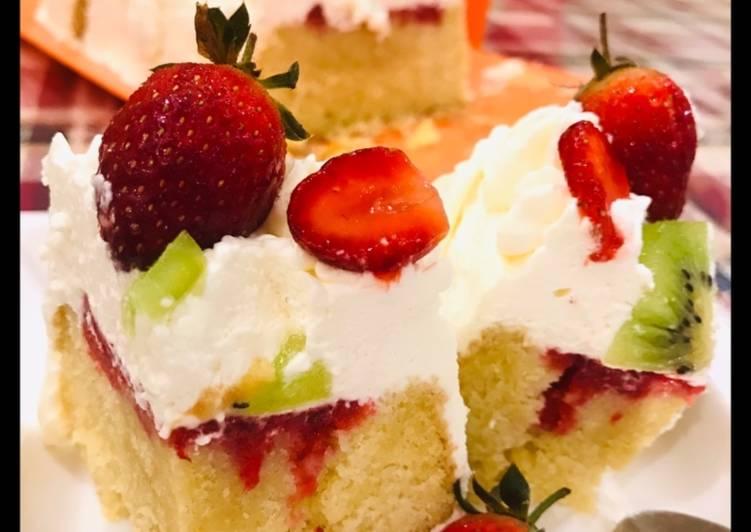 Recipe: Appetizing Whosayna's Strawberry Poke Cake