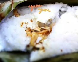 Nasi bakar simple (nasi magic com + bakar teflon)