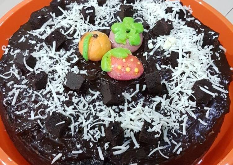 Resep Brownies kukus lumer/ Steamed chocolate cake Anti Gagal