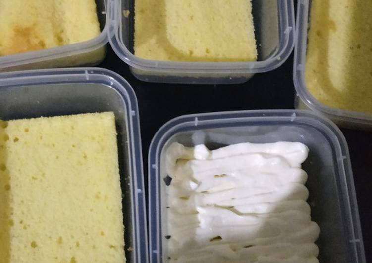 Resep Base cake dessert box, Lezat