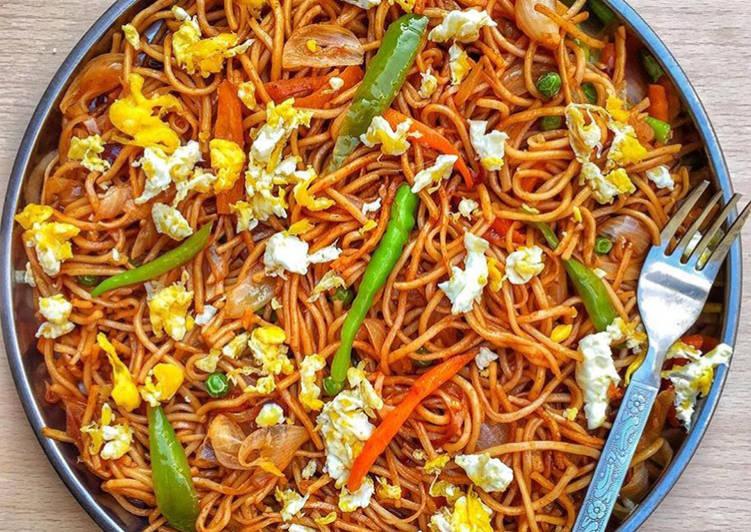 Egg vegetables Noodles