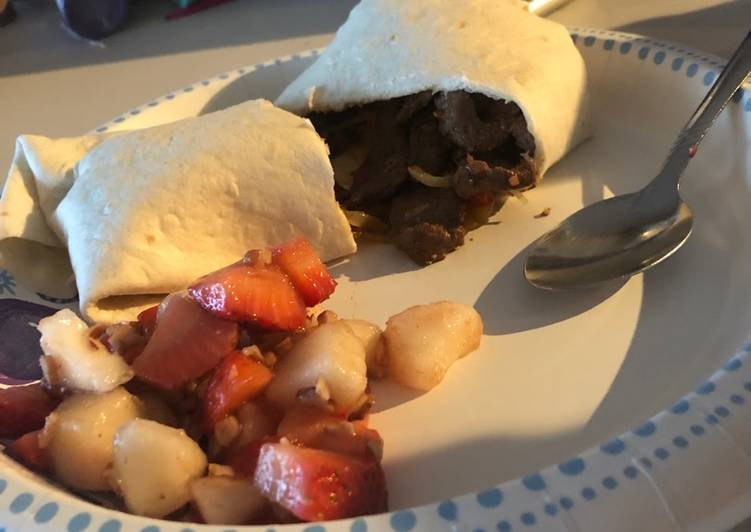 Recipe of Super Quick Homemade Venison burrito real meal!