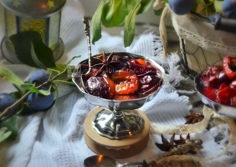 Compotée de prunes quetsches au Floc de Gascogne