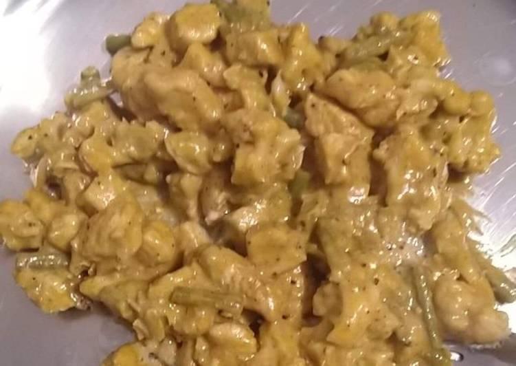 Steps to Prepare Speedy Chicken curry stew