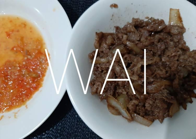 Sambel Ala Yoshinoya Pelengkap Beef Yakiniku Mudah Sederhana