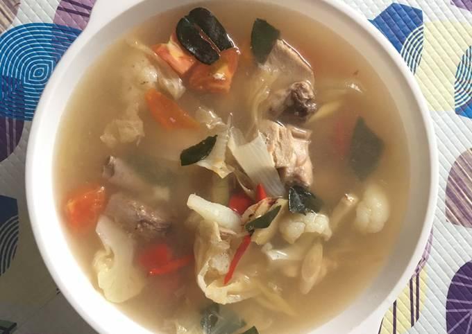 Tomyam putih ayam ala thai