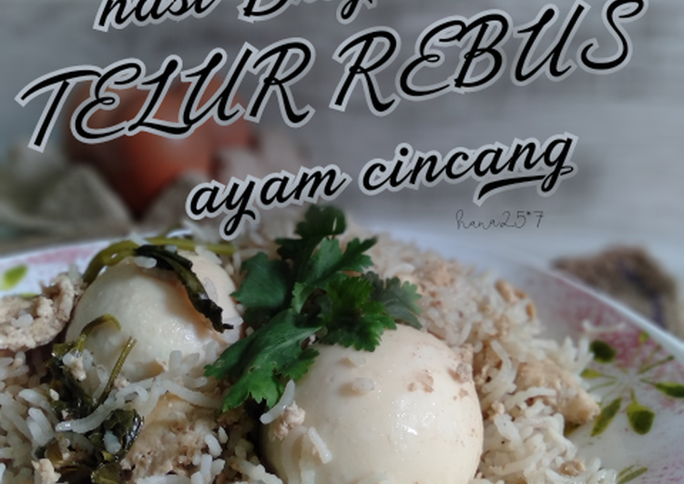 Nasi briyani telur rebus ayam cincang - velavinkabakery.com