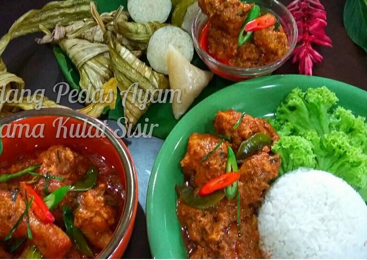 Rendang Pedas Ayam Bersama Kulat Sisir #MAHN - velavinkabakery.com