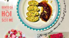 Hình ảnh món Bento cá hồi sốt me Trứng mix rau củ cuộn phô mai
