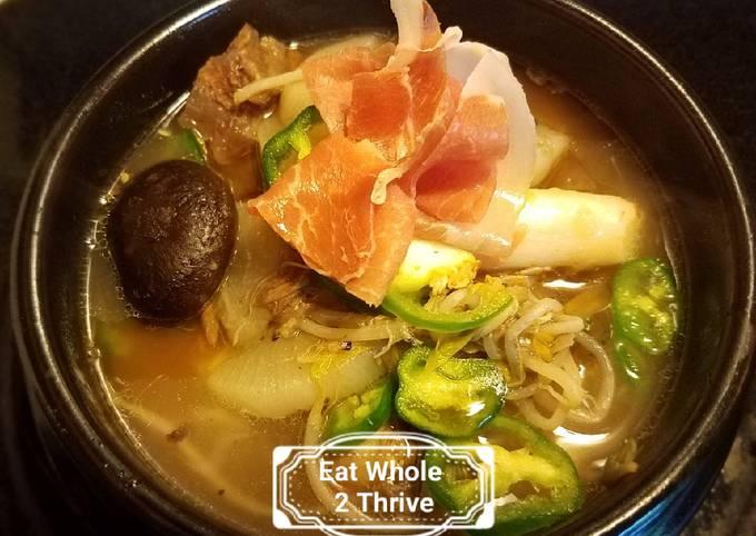 Beef shank & rice cake soup 牛腱年糕汤