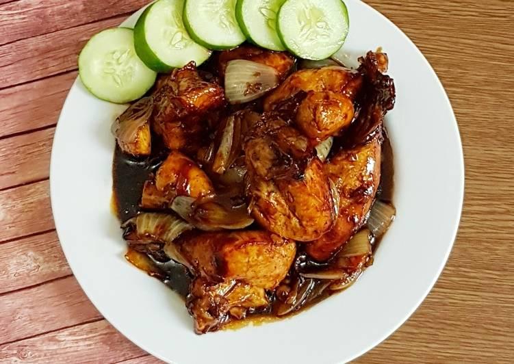 Ayam Goreng Mentega Saos Lada Hitam