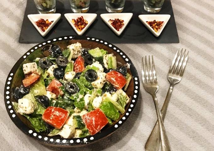 Quick, Easy & healthy Greek salad & Greek cocktail in just 5 min