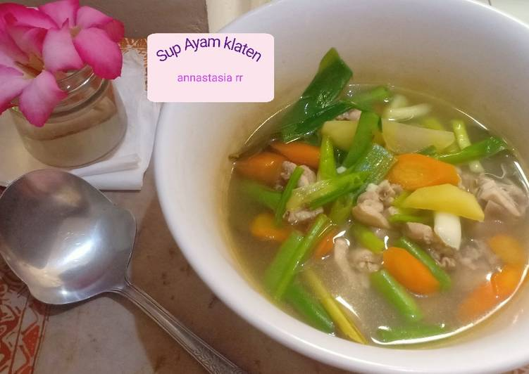 Resep Sup ayam klaten enak & simple Yang Mudah Endes