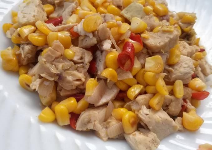 resep tumis jagung ayam diet oleh balkis igel  cookpad