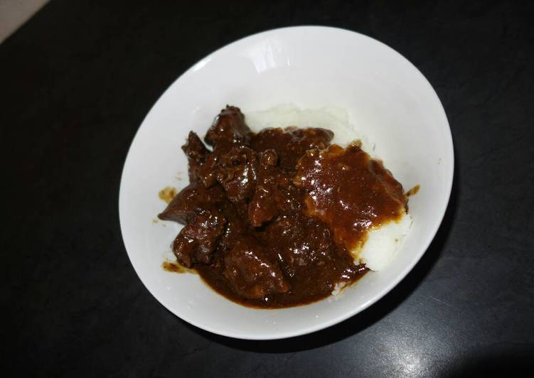 Recipe of Super Quick Homemade Beef liver and pap