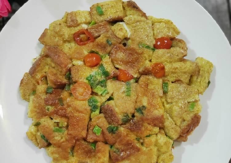 Omelet Roti Gandum simple untuk sarapan