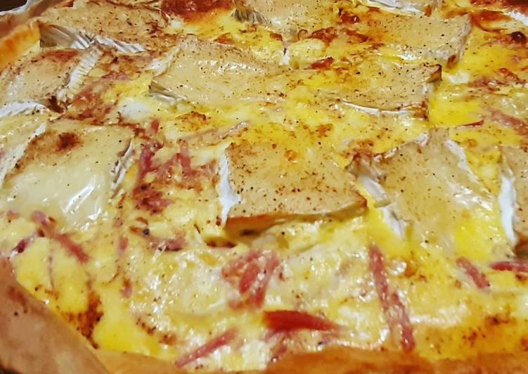 Recette Appétissante Tarte aux pommes de terre et camembert