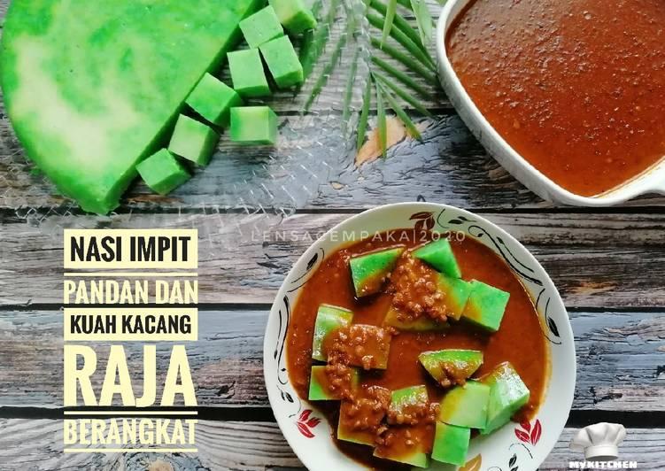 Nasi Impit Pandan dan Kuah Kacang Raja Berangkat - resepipouler.com