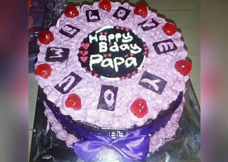 Simple Birthday Cake with base Nutricake - cookandrecipe.com