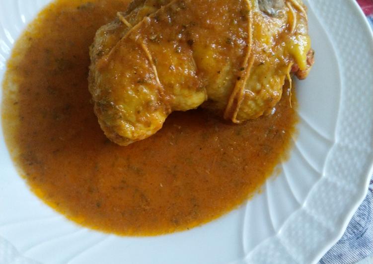 Cosce di pollo farcite